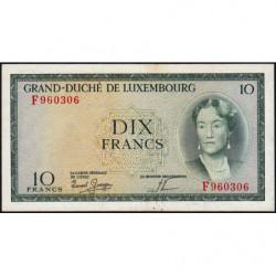 Luxembourg - Pick 48a_2 - 10 francs - 1959 - Etat : SUP+