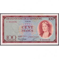 Luxembourg - Pick 50a - 100 francs - 15/06/1956 - Etat : SUP+