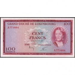 Luxembourg - Pick 52 - 100 francs - 18/09/1963 - Etat : pr.NEUF