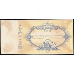 Mines d'Anzin - Jer 59.04A - 20 francs - 20/10/1870 - Epreuve - Etat : SUP