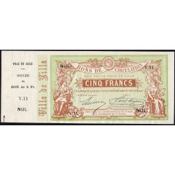 Ville de Lille - Jer 59.40B - 5 francs - 17/09/1870 - Etat : SPL