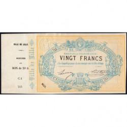 Ville de Lille - Jer 59.40C- 20 francs - 17/09/1870 - Etat : SPL