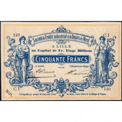 Lille Crédit du Nord - Jer 59.42C - 50 francs - 1870 - Etat : SPL