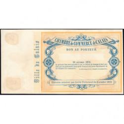 Ch. de Comm. Calais - Jer 62.11A - 5 francs - 10/10/1870 -Epreuve - Etat : SUP