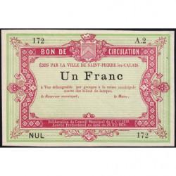 St-Pierre-lez-Calais - Jer 62.26A - 1 franc - 08/10/1870 - Etat : SPL