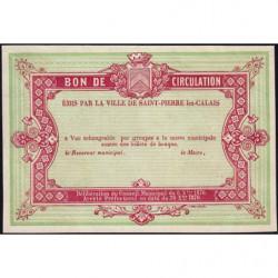 St-Pierre-lez-Calais - Jer 62.26A - 1 franc - 08/10/1870 - Epreuve - Etat : SPL