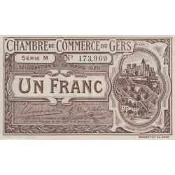 Auch (Gers) - Pirot 15-19 variété - 1 franc - Série M - 26/03/1920 - Etat : SPL