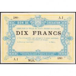 St-Pierre-lez-Calais - Jer 62.26C - 10 francs - 08/10/1870 - Etat : SUP