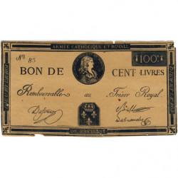 Louis XVII - Laf 278 faux - 100 livres - 1793 - Etat : TB