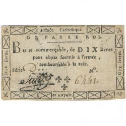 Stofflet - Laf 274 - 10 livres - 1794 - Etat : SUP