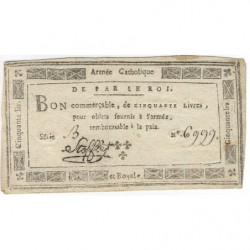 Stofflet - Laf 276 - 50 livres - 1794 - Etat : TTB+