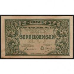 Indonésie - Pick 31 - 10 sen - 01/12/1947 - Etat : TTB+