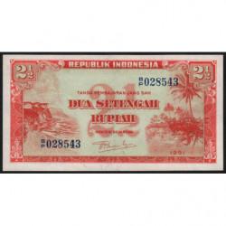 Indonésie - Pick 39 - 2 1/2 rupiah - 1951 - Etat : NEUF
