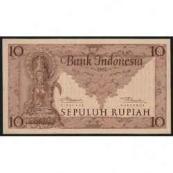 Indonésie - Pick 43b - 10 rupiah - 1952 - Etat : NEUF