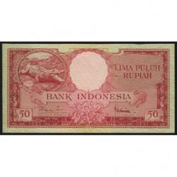 Indonésie - Pick 50 - 50 rupiah - 1957 - Etat : NEUF