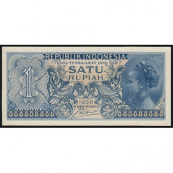 Indonésie - Pick 74 - 1 rupiah - 1956 - Etat : NEUF