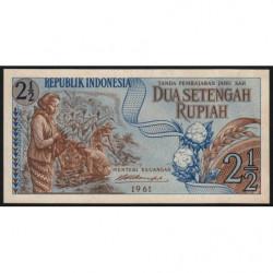 Indonésie - Pick 79 - 2 1/2 rupiah - 1961 - Etat : NEUF