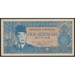 Indonésie - Nord Bornéo - Pick 79B - 2 1/2 rupiah - 1961 - Etat : NEUF