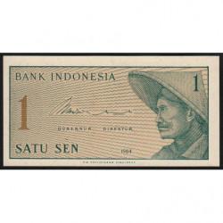 Indonésie - Pick 90a - 1 sen - 1964 - Etat : NEUF