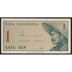 Indonésie - Pick 90r (remplacement) - 1 sen - 1964 - Etat : NEUF