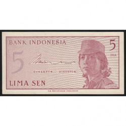 Indonésie - Pick 91r (remplacement) - 5 sen - 1964 - Etat : NEUF