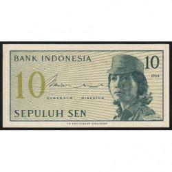 Indonésie - Pick 92a - 10 sen - 1964 - Etat : NEUF