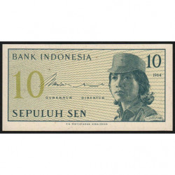 Indonésie - Pick 92r (remplacement) - 10 sen - 1964 - Etat : NEUF