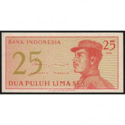 Indonésie - Pick 93a - 25 sen - 1964 - Etat : NEUF