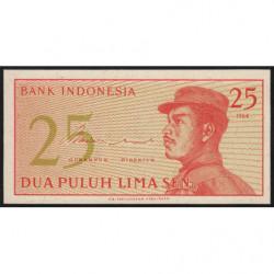 Indonésie - Pick 93r (remplacement) - 25 sen - 1964 - Etat : NEUF