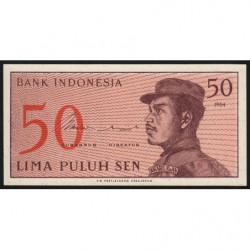 Indonésie - Pick 94r (remplacement) - 50 sen - 1964 - Etat : NEUF