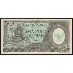 Indonésie - Pick 96 - 50 rupiah - 1964 - Etat : NEUF