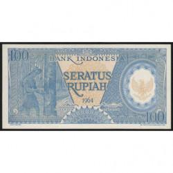 Indonésie - Pick 98 - 100 rupiah - 1964 - Etat : NEUF