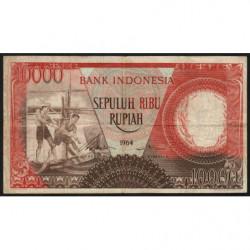 Indonésie - Pick 99 - 10'000 rupiah - 1964 - Etat : TB