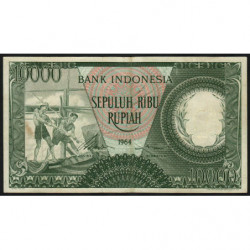 Indonésie - Pick 100a - 10'000 rupiah - 1964 - Etat : TB+