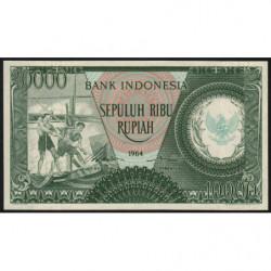 Indonésie - Pick 101b - 10'000 rupiah - 1964 - Etat : NEUF