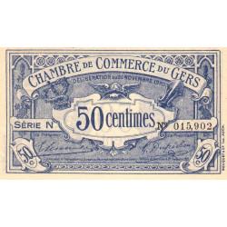 Auch (Gers) - Pirot 15-20-N - 50 centimes - 1920 - Etat : SUP+