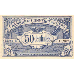 Auch (Gers) - Pirot 15-20 - Série N - 50 centimes - 1920 - Etat : SUP+