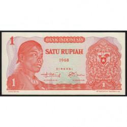 Indonésie - Pick 102a - 1 rupiah - 1968 - Etat : NEUF