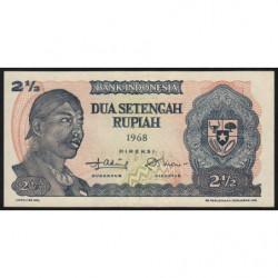 Indonésie - Pick 103a - 2 1/2 rupiah - 1968 - Etat : TB+