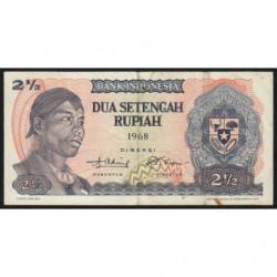 Indonésie - Pick 103a - 2 1/2 rupiah - 1968 - Etat : NEUF