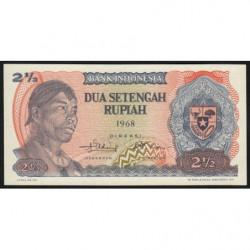 Indonésie - Pick 103r (remplacement) - 2 1/2 rupiah - 1968 - Etat : NEUF