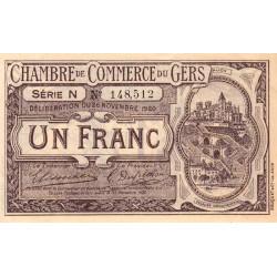 Auch (Gers) - Pirot 15-22 - 1 franc - Série N - 26/11/1920 - Etat : SUP+