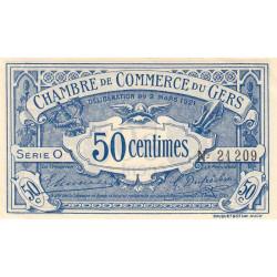 Auch (Gers) - Pirot 15-24 - 50 centimes - Série O - 02/03/1921 - Etat : SPL