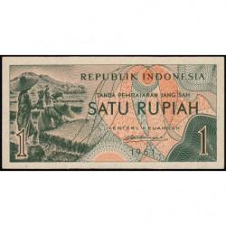 Indonésie - Pick 78r (remplacement) - 1 rupiah - 1961 - Etat : NEUF