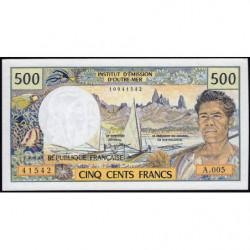 Territoire Français du Pacifique - Pick 1a - 500 francs - Série A.005 - 1992 - Etat : NEUF
