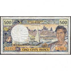 Territoire Français du Pacifique - Pick 1a - 500 francs - Série J.005 - 1992 - Etat : B+