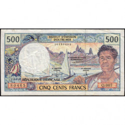 Territoire Français du Pacifique - Pick 1c - 500 francs - Série Q.007 - 1995 - Etat : TB