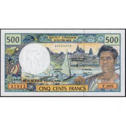 Territoire Français du Pacifique - Pick 1d - 500 francs - Série F.009 - 2001 - Etat : NEUF