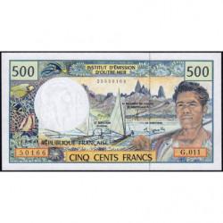 Territoire Français du Pacifique - Pick 1e - 500 francs - Série G.011 - 2004 - Etat : NEUF