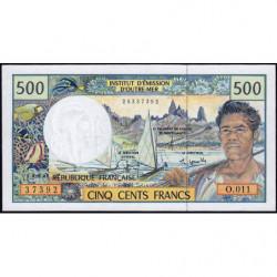Territoire Français du Pacifique - Pick 1e - 500 francs - Série O.011 - 2004 - Etat : NEUF